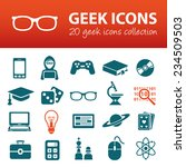 geek icons  | Shutterstock .eps vector #234509503