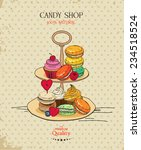 macaroon. poster with... | Shutterstock .eps vector #234518524