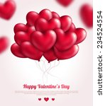 valentine's day background with ... | Shutterstock .eps vector #234524554