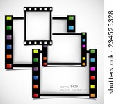 films frame abstract... | Shutterstock .eps vector #234525328