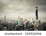 all over town  | Shutterstock . vector #234526546