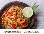 Asian Rice Noodles With Shrimp...
