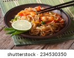 asian food  rice noodles with... | Shutterstock . vector #234530350