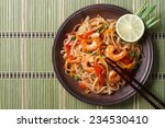 delicious rice noodles with... | Shutterstock . vector #234530410