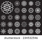 set of stylized images of... | Shutterstock .eps vector #234532546
