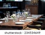 glasses  forks  knives  napkins ... | Shutterstock . vector #234534649