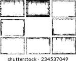 set of grunge black and white... | Shutterstock .eps vector #234537049