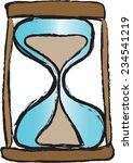 doodle hour glass vector icon | Shutterstock .eps vector #234541219