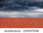 dark rain clouds above the...   Shutterstock . vector #234547048