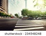 street  in shanghai lujiazui... | Shutterstock . vector #234548248