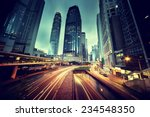 traffic in hong kong at sunset... | Shutterstock . vector #234548350