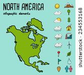 infographic illustration with... | Shutterstock .eps vector #234553168