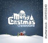merry christmas typographic... | Shutterstock .eps vector #234553240