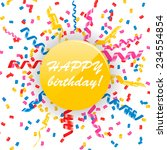 happy birthday card with... | Shutterstock .eps vector #234554854