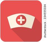 nurse cap  modern flat icon... | Shutterstock .eps vector #234555334