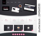 website template vector design...
