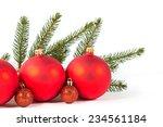 closeup of red christmas balls... | Shutterstock . vector #234561184