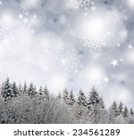 gray  christmas background. | Shutterstock . vector #234561289