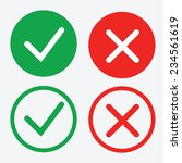 yes or no icons vector | Shutterstock .eps vector #234561619