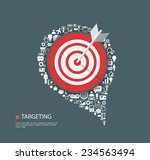flat illustration of targeting... | Shutterstock .eps vector #234563494