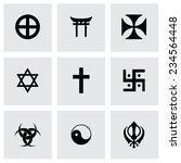 vector religious symbols icon... | Shutterstock .eps vector #234564448