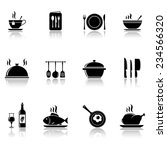 cooking and kitchen icons with... | Shutterstock . vector #234566320