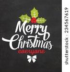 christmas typographic... | Shutterstock .eps vector #234567619