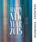 new year typographic background | Shutterstock .eps vector #234567634