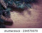 christmas fir tree with...   Shutterstock . vector #234570370