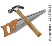 hammer and saw | Shutterstock .eps vector #234575188