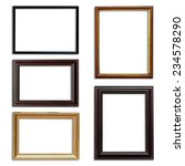Frame Picture Set On Isolated...