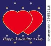 valentines day vintage... | Shutterstock .eps vector #234582118