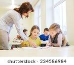 education  elementary school ... | Shutterstock . vector #234586984