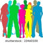 group of friends | Shutterstock .eps vector #23460100