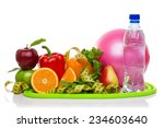 fitness equipment and healthy... | Shutterstock . vector #234603640