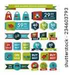 valentines day sale banner flat ... | Shutterstock .eps vector #234603793