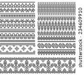 henna banner  border  henna... | Shutterstock .eps vector #234609910