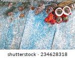 winter decoration. composition... | Shutterstock . vector #234628318