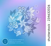vector  paint abstract floral... | Shutterstock .eps vector #234632026