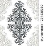 vintage baroque border frame... | Shutterstock . vector #234635380