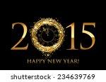 vector 2015 happy new year... | Shutterstock .eps vector #234639769