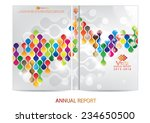 annual report cover design | Shutterstock .eps vector #234650500