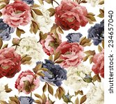 seamless floral pattern with... | Shutterstock . vector #234657040