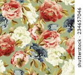 seamless floral pattern with... | Shutterstock . vector #234657046