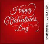 valentines day vintage... | Shutterstock .eps vector #234657424