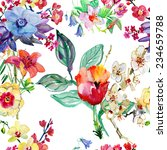 seamless floral background with ... | Shutterstock . vector #234659788