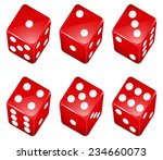 illustration of a set of red... | Shutterstock .eps vector #234660073
