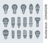 light bulbs. bulb icon set   Shutterstock .eps vector #234660208