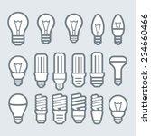 light bulbs. bulb icon set   Shutterstock .eps vector #234660466