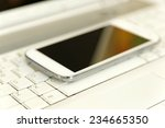smart phone close up over... | Shutterstock . vector #234665350